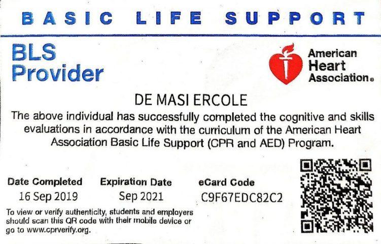 118 Emergenza Certificazione ACLS